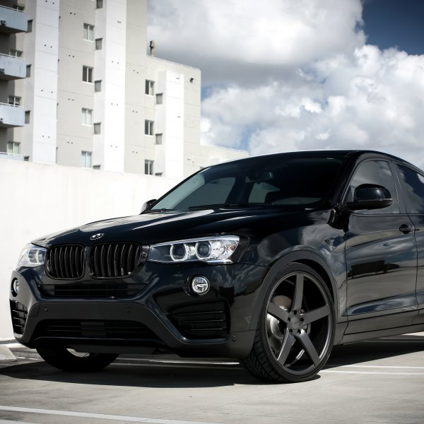 All Black BMW X4 On Custom Wheels