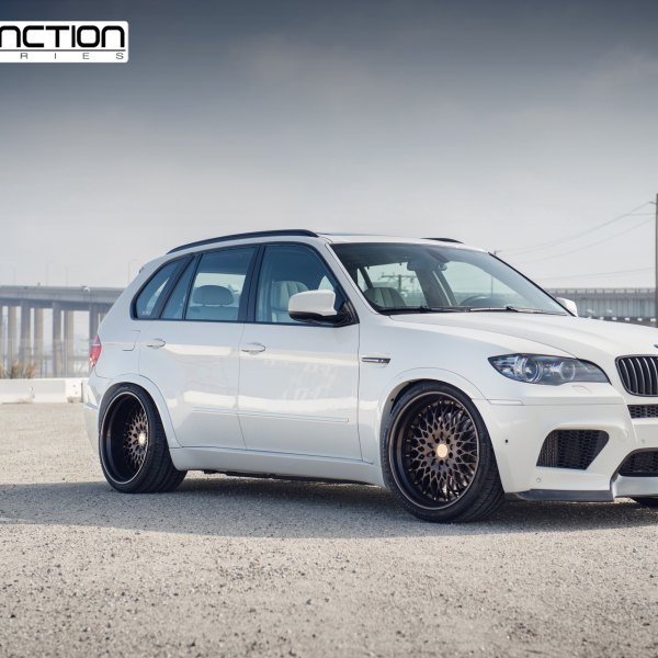 Aftermarket Front Bumper On White BMW X5