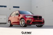 Red BMW X5 Rocking a Set of Chrome Anrky Wheels