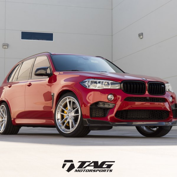 Red BMW X5 With Custom Front Lip