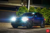 Blue BMW X5 Rolling on Vossen Rims: Ultimate Go-Anywhere Toy