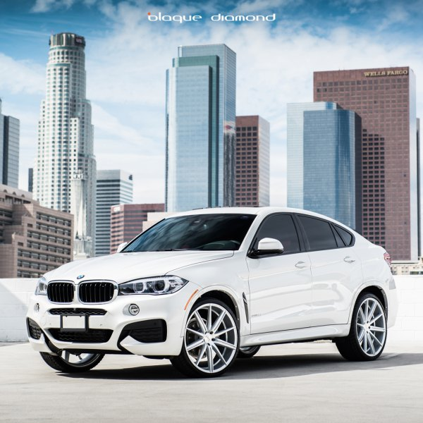 Front Bumper With LED Fog Lights On White BMW X6