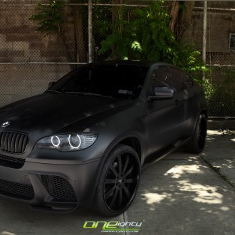 Black Adv1 Rims And Red Brake Calipers On Bmw X6m Carid Com Gallery