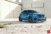 Stylish Modified Blue BMW X6 Showing Off Vossen Wheels