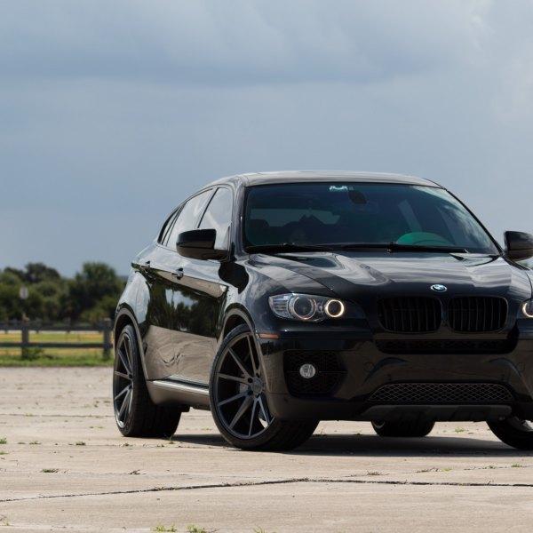 VPS 301 Custom Wheels By Vossen On A Black BMW X6