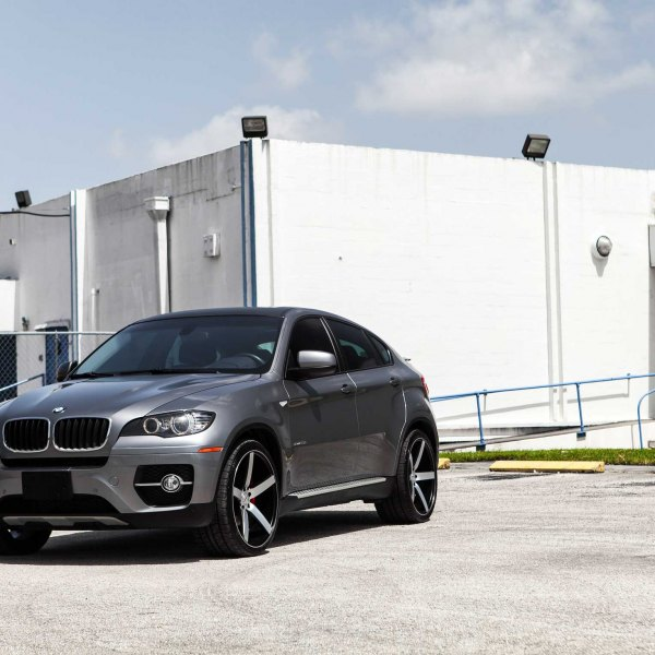 Gray Metallic BMW X6 With Custom Front Bumper Cover