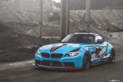 BMW Z4 With a Wide Body Kit and Racing Livery
