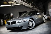 Flashy Gray BMW Z4 on Silver Wheels