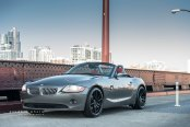 Custom Gray Convertible BMW Z4 Shod in Nice Wheels