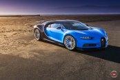 Unparalleled Luxury: Customized Blue Bugatti Chiron