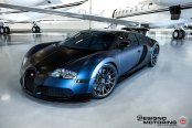 Exotic Bug: Customized Dark Blue Bugatti Veyron on Forged Vossen Rims