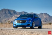 Cadillac ATS-V Coupe On Staggered Set of Vossens