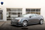 A Beautiful Mask: Gray Cadillac CTS Wearing a Chrome Mesh Grille