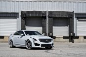 Gray Cadillac CTS Gains Distinctive Looks with Chrome Forgiato Rims