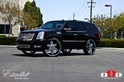 King of SUVs: Lifted Black Cadillac Escalade