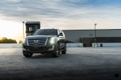 VIP Appearance of Black Cadillac Escalade Emphasized With Custom Wheels