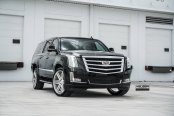 VIP Appearance of Black Cadillac Escalade Emphasized With Contrasting Chrome Elements