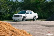 Bad Boy White Chevy Avalanche SS Customized to Stand Out