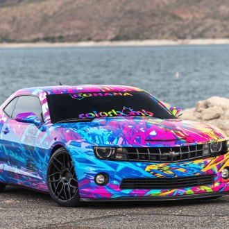Colorbomb Camaro on Gloss Black Rohana Rims