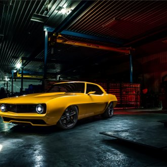 Sleek Body Work Revealing the Best Spirit of Yellow Ford Mustang