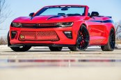 Bright Red Camaro Features Blacked Out Accents for Aggressive Look