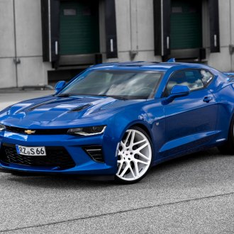 Customized Blue Chevy Camaro for a Modern Muscle Car Look