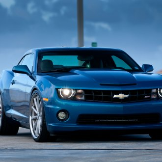 Stylish Transformation of Blue Chevy Camaro with Tuning Tweaks