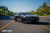 Black Chevy Camaro Upgraded by Borla and MRR Wheels