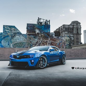 Muscle Detected: Blue Chevy Camaro Wearing Custom Body Kit