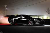 Sleek Muscle: Enhanced Black Chevy Corvette