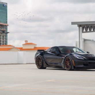 Iconic Black Chevy Corvette with Aftermarket Parts