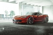 Orange Chevy Corvette Z06 Shod in Exclusive Bespoke Rims Wrapped in Michelin Tires