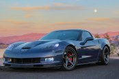 Simplicity Is Beauty: Dark Blue Chevy Corvette with Minor Customization