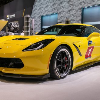 Custom Yellow Chevy Corvette Showing Off Michelin Tires