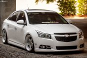 Stanced Chevy Cruze On Classic Style Custom Wheels