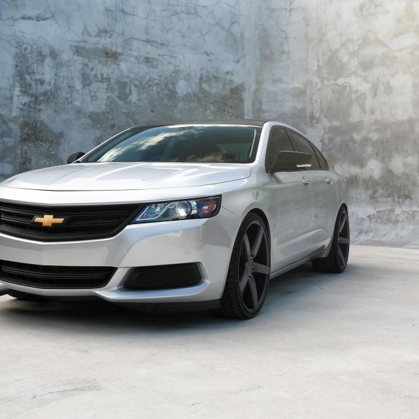 Silver Chevy Impala With Carbon Fiber Grille Photo By Vossen