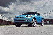 Baby Blue Chevy Monte Carlo on Huge DUB Wheels