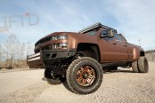 Bronze Wrapped Custom Silverado 3500HD with Lift and Off-road Wheels