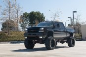 King Lift on Custom Black Chevy Silverado