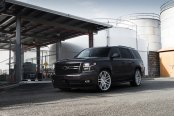 Imposing Black Chevy Tahoe Shod in Chrome Niche Wheels