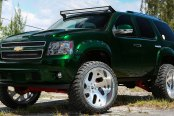 "Alligator Green Chevy Tahoe on 37"" Off-road Wheels"
