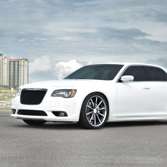 White Chrysler 300 with Custom Mesh Grille - Photo by Vossen