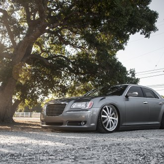 Provocative Custom Gray Chrysler 300 Goes Low