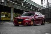 Bloody Red Chrysler 300 SRT on Bronze Avant Garde Rims