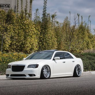 Front Bumper with Fog Lights on White Chrysler 300 - Photo by Avant Garde Wheels