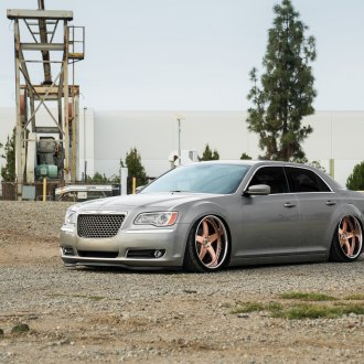 Stanced Out Gray Lowered Chrysler 300 Was Put on Avant Garde Wheels