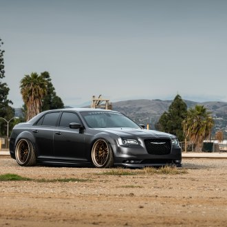 Pimped Out Gray Chrysler 300 with Blacked Out Mesh Grille on