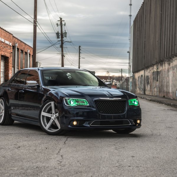 Chrysler 300 With Colorchanging Oracle Headlights and Rohana Wheels - Photo by Rohana Wheels