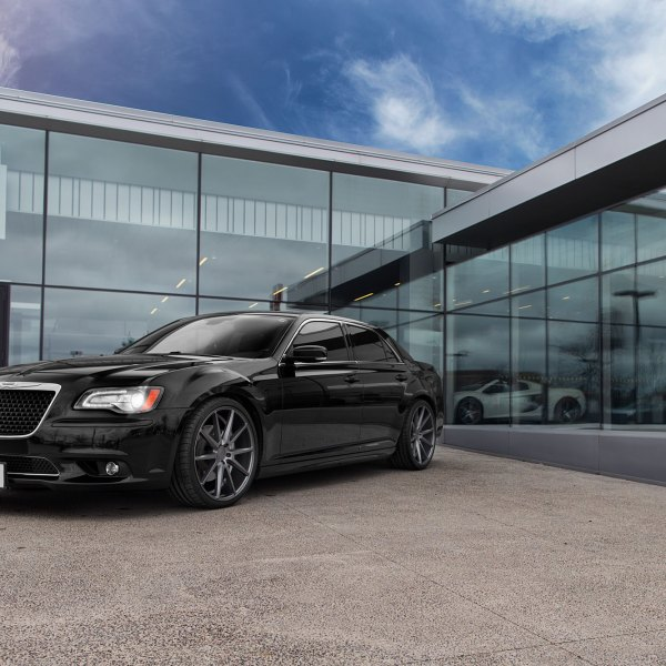 Black Chrysler 300 with Custom Grille - Photo by Vossen