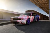 Wild Custom Paint on Dodge Challenger Shod in Rohana Rims